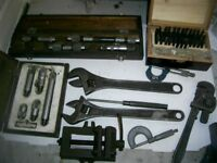 ENGINEERS TOOLS MICROMETERS STICK MICROMETERS LETTER STAMPS ETC