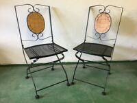 Metal garden / patio chairs