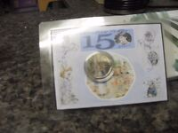 RARE LIMITED EDITION PETER RABBIT COLOURED 50p COIN IN ANNIVERSARY PACK