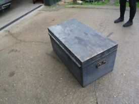 EX dock yard tool box, ideal as living room up-cycle table feature idea.