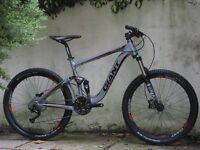 Giant Trance X2 full suspension mountain bike wFox Fork Avid Hydraulic Brakes 30-Speed Shimano gears
