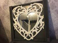 Beautiful Mirror Large Ornate Heart Mirror - new