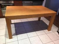 Next solid oak extending dining table