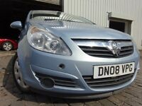 08 VAUXHALL CORSA 1.2,MOT JUNE 017,PART SERVICE HISTORY,3 OWNERS FROM NEW,LOVELY CAR THROUGHOUT