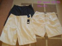 mens size 34inch chino style shorts one pair still has tags on £8.50 the lot