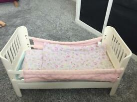 Baby Annabelle Cot with blankets