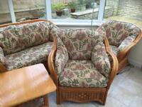 Solid Cane Conservatory Furniture Set