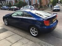 Toyota Celica Premium, 1yr MOT, excellent condition, working cold aircon, leather, service history
