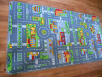Two road layout play rugs