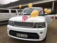 Range Rover Autobiography Sport in White-A more luxury reliable mode of transport for your wedding
