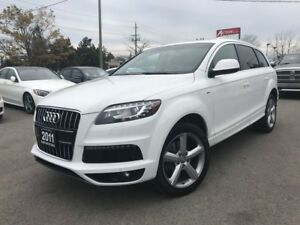 2011 AUDI Q7 QUATTRO|S-LINE|BK CAM|NO ACCIDENTS|MUST SEE|