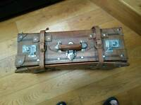 Retro Faux Leather Suitcase