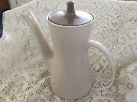 POOLE Coffee Pot - Mushroom Two Tone