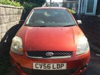Ford fiesta zetec 1.25 in burnt orange.