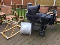 Silver Cross Sleepover Pram With Linear Chassis