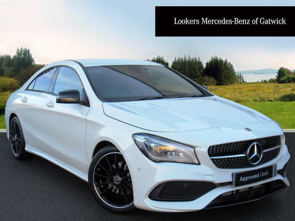mercedes benz cla cla 180 amg line white 2017 12 08 in crawley west sussex gumtree. Black Bedroom Furniture Sets. Home Design Ideas