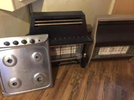 Two gas heaters and gas hob for sale BARGAIN!!