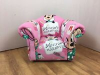 Children's/Kids Armchair in Pink Minnie Mouse Themed Fabric