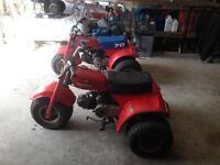 Honda 70cc trikes