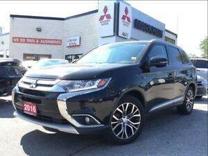 2016 Mitsubishi Outlander GT (LEATHER, SUNROOF, POWER SEATS)