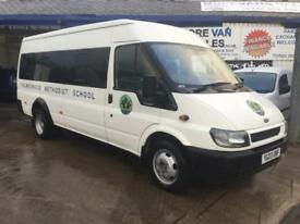 2003 1 owner ford transit 17 seat minibus 2.4 tddi 140k ex church bus ideal youth club bus / boxing