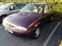 1999 Ford Fiesta 1.25 Zetec Ghia Purple Spares or Repair