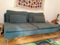 Turquoise Teal Blue Sofa - Must go!