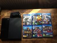 PS4 500gb + 7 games + 1 pad PERFRCT CONDITION