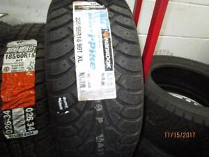 225/55R16 SINGLE ONLY NEW HANKOOK WINTER TIRES
