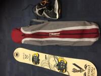 Liquid snowboard-k2 boots-burton board bag