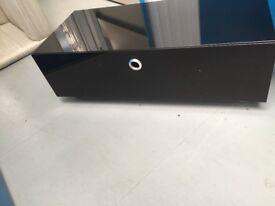 Modern black glass TV/Multimedia Unit