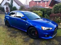 2008 Mitsubishi Evo X FQ300 Only 45k Miles showroom condition with Extras Octane Blue