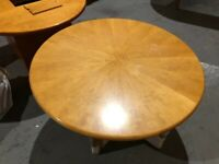 Round Desk Table/120cm Diameter Meeting Table/Circular Wood Home Office Table/W120 x H72cm