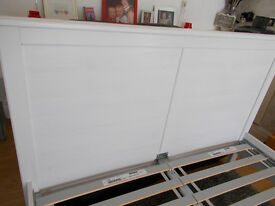 White wooden european double bed frame **SOLD**