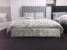 Open Wing Bed with Orthopaedic Mattress