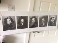 Bob Marley black and white poster