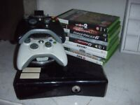 XBOX 360 & 9 GAMES WITH EXTRAS