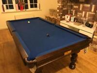 Pool snooker table dining table