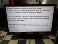Hitachi tv 42 inc LCD FULL HD