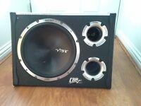 Vibe CBR 12 Evo v2, Active Subwoofer Enclosure, black air 2, 1600 watts
