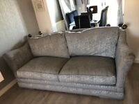 Home living Silver large 2 seater sofa!