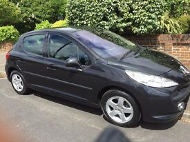 Clean Reliable Peugeot 207 Sport 5dr in black with Air con and Bluetooth, regularly serviced, MOT