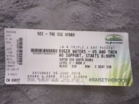Roger Waters - Us and Them Concert Ticket