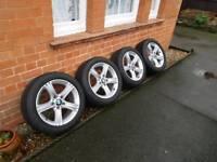 Genuine BMW 17 Alloy Wheels & Tyres 393 Style 3 Series F30 F31 F32 E90 E91 OEM