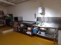 COMMERCIAL KITCHEN FOR RENT / STORAGE SPACE