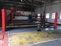 4 Post lifting ramps