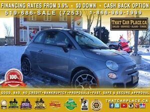 2015 Fiat 500 Sport-$41/Wk-CleanCarproof-Bluetooth-USB/AUX