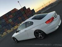 2008 BMW 335xi coupe AWD white on red twin turbo