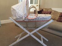 Never used Mamas and Papas Moses basket