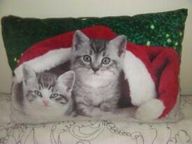 Christmas Cats Cushion.